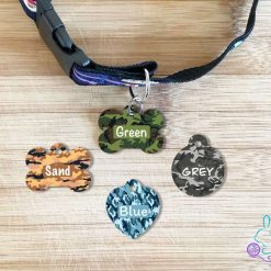 Camo personalised dog tag