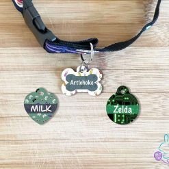 Geek personalised dog tag