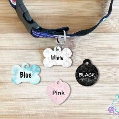 Marble personalised dog tag