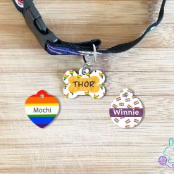 Pride personalised dog tag