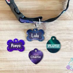 Galaxy personalised dog tag