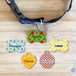 Fruit personalised dog tag