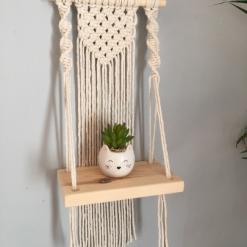 Mini Macramé Shelf Hanging in Natural