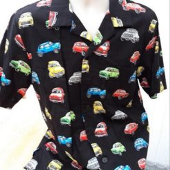 Mini car themed men's casual shirt