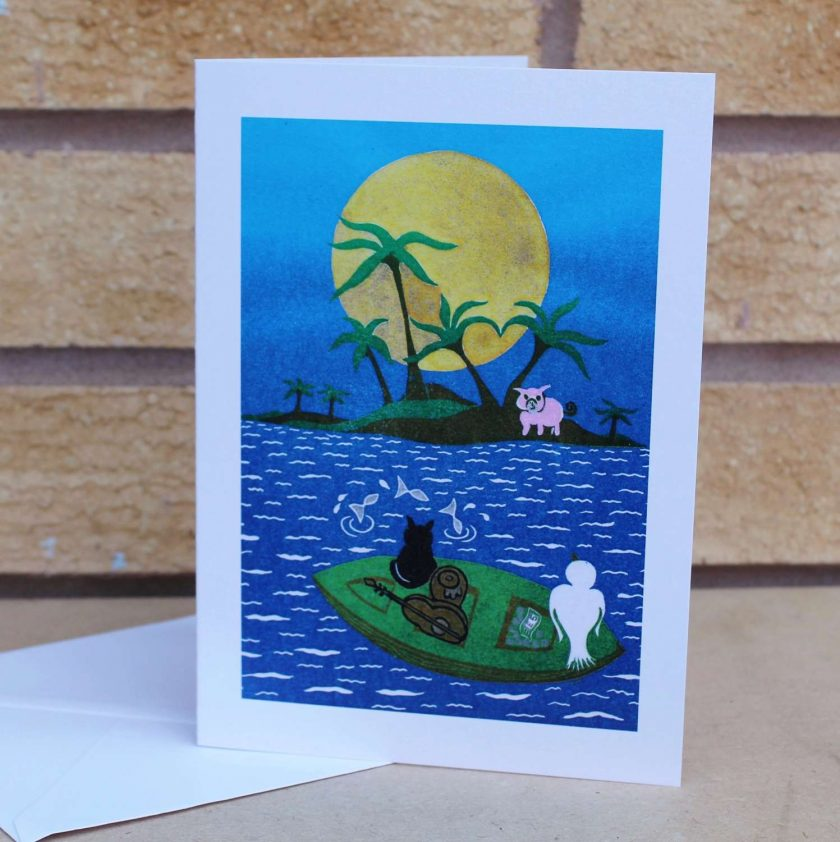 The Owl and the Pussycat Greetings Cards - Set of 3 (Mother's Day, Birthdays, all occasions) by Sarah's Printing