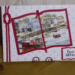 Fishing Village Scene Book Any Occasion Card