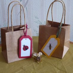 Small gift bag with bee or ladybird tag