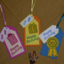 Set of Three Happy Birthday Gift tags