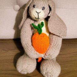 Knitted Rabbit with Carrot