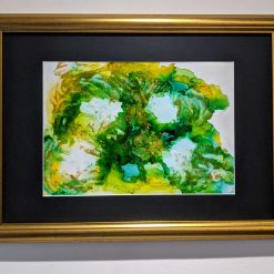 Greens to Yellows with a dash of Gold Alcohol Ink