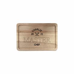 Engraved Rectangular Chopping Board - Knife & Fork