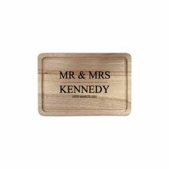 Engraved Rectangular Chopping Board - Mr & Mrs