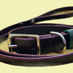 The Hound English bridle leather Dog Collar (Matching lead available)