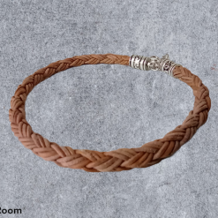 Simple Braided Leather Bracelet. Lobster Clasp Closure.
