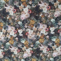 Floral Fabric, Pastel Colours, Cotton Lycra