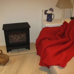 Crocheted Red Throw by SerendipityGDDs