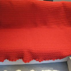 Crocheted Red Throw by SerendipityGDDs 3