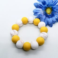 Mustard and marble teething ring