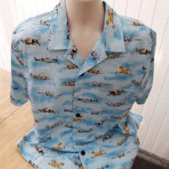 Spitfire aircraft themed men's casual shirt