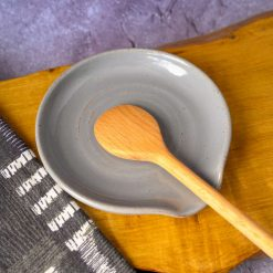 Spoon Rest  - Stoneware with Grey Glaze