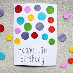 Rainbow Spotty Happy Birthday Greetings Card 1