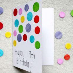 Rainbow Spotty Happy Birthday Greetings Card 2
