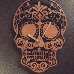 Sugar Skull / Mexican day of the dead Clock - Wooden Sugar Skull / Mexican day of the dead Clock - Sugar Skull / Mexican day of the dead.