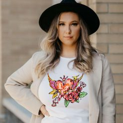 Heart In Love - Ladies T-Shirt - Artwork by the Very Talented Artist Sarah Neville - Made to Order