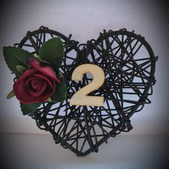 Rattan Heart Table Place Display