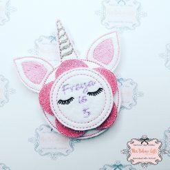 Personalised Unicorn Birthday Badge