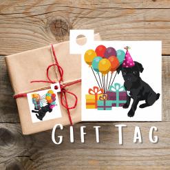 Pug Dog Gift Tags | Dog Illustration | Present Tags | Dog Themed Gift | Parcel Tags