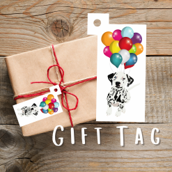 Dalmatian Dog Gift Tags | Dog Illustration | Present Tags | Dog Themed Gift | Parcel Tags