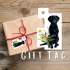 Labrador Dog Gift Tags | Dog Illustration | Present Tags | Dog Themed Gift | Parcel Tags