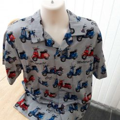 Vespa motor scooter men's casual shirt