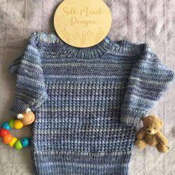 """Walter"" Sweater (birth-7 years) PDF Knitting Pattern"