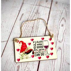 Mini wine Gnome Plaque
