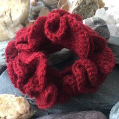 Hair Scrunchie-Crochet Large Ruffle