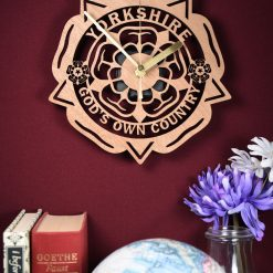 Yorkshire Rose God's Own Country / Born and Bred Clock. Yorkshire saying clock. Perfect for proud Yorkshire men or women. Yorkshire pride.