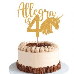 PERSONALISED CAKE TOPPER age, name and animal shape