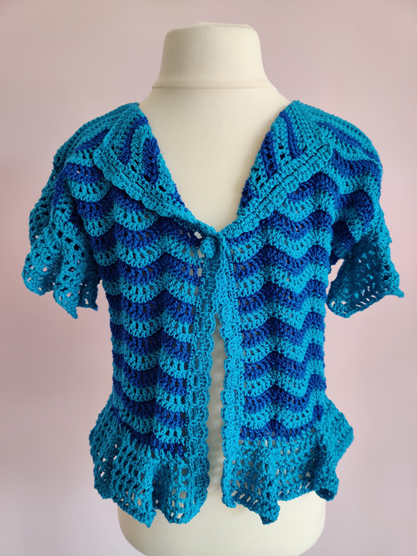 Azure Waves Cardigan by SerendipityGDDs for age 2