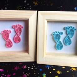Paper Quilling Baby Feet Frame