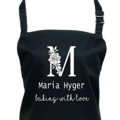 Personalised Apron, cooking, black apron,Aprons,  BBQ, Grill, Cooking Women, Black Apron, 2 pocket black, Chef apron, head chef, master chef