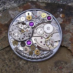 Upcycled Steampunk Brooch, Cogs and Gears, Upcycled Watch Movement. Free UK Postage