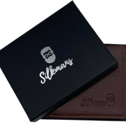 Silkmans Personalized Men's Leather Wallet For anniversary | Engraved Men's Leather Wallet for Birthday | Custom Leather Wallet Gift for him