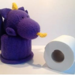 DRAGON TOILET ROLL COVER (+ FREE TOILET ROLL)