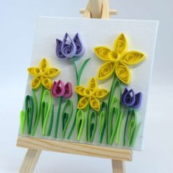 Paper Quilling Spring Easel Art