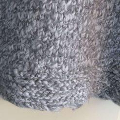 Womens / Ladies Grey Marl Chunky Fisherman's Knit Jumper/ Sweater, Handmade 2