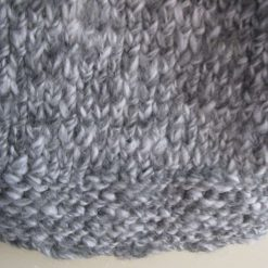 Womens / Ladies Grey Marl Chunky Fisherman's Knit Jumper/ Sweater, Handmade 3