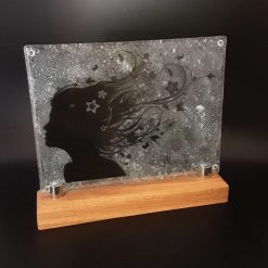Artists Palette Glass Plate