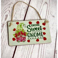 Gnome Sweet Gnome Mini Plaque